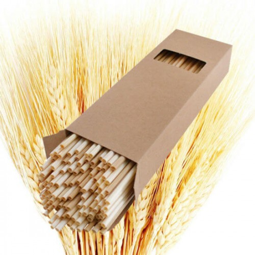 Пшеничная трубочка для напитков 20 см 1 шт