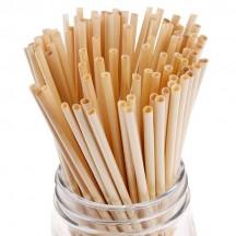 Биоразлагаемые трубочки для напитков из пшеницы 20 см 100 шт
