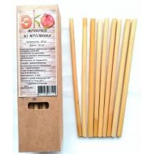 """Эко трубочки из тростника (""""камыша"""") для горячих и холодных напитков 20 см 30 шт"""