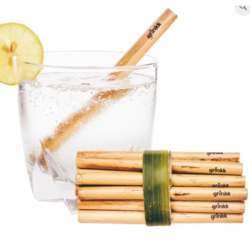 Биоразлагаемые эко трубочки для напитков из камыша Small 14 см 200 шт