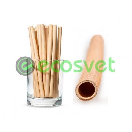 Биоразлагаемые эко трубочки для напитков из камыша Large 14 см 50 шт