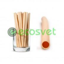Эко трубочки для напитков из камыша Medium 14 см 50 шт