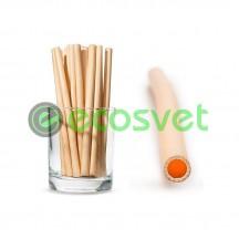 Эко трубочки для напитков из камыша Small 14 см 50 шт