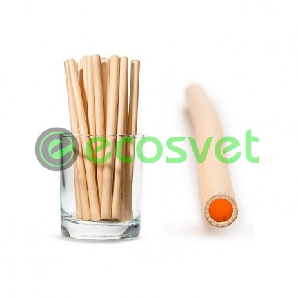 Биоразлагаемые эко трубочки для напитков из камыша Small 14 см 50 шт