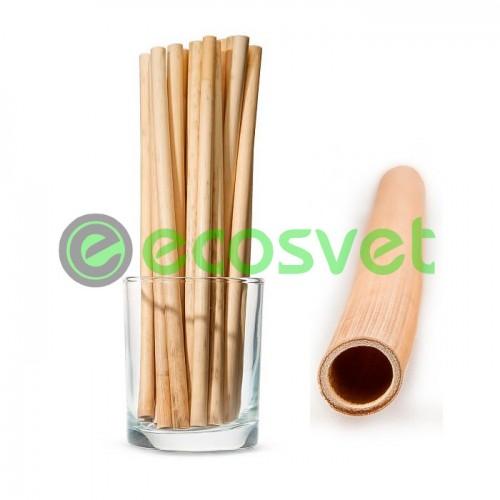 """Биоразлагаемая Эко трубочка из тростника (""""камыша"""") для горячих и холодных напитков 20 см"""