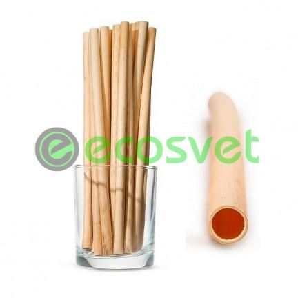 Биоразлагаемые эко трубочки для напитков из камыша Medium 20 см 50 шт