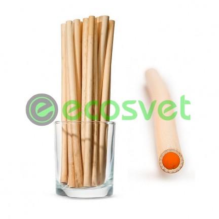 Биоразлагаемые эко трубочки для напитков из камыша Small 20 см 50 шт