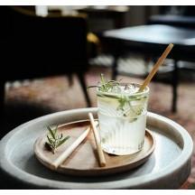 """Эко трубочка из тростника (""""камыша"""") для горячих и холодных напитков 15 см"""