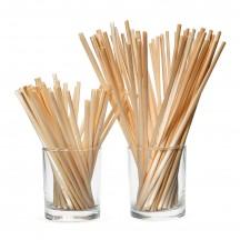 Биоразлагаемые трубочки для напитков из пшеницы 14 см 100 шт